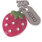 aardbei en xoxo kinderketting ladies charm