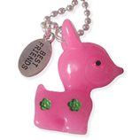 fuchsia hertje en best friends kinderketting ladies charm