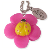 fuchsia kapoen en best friends kinderketting ladies charm