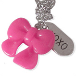 fuchsia strik en xoxo kinderketting ladies charm