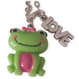 kikker en love kinderketting ladies charm