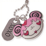 blij meisje en xoxo kinderketting ladies charm