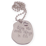 enjoy the little things in life wens ketting