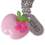 roze appel en xoxo kinderketting ladies charm
