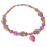 roze fruit meisje kinderketting