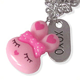 roze konijn en xoxo kinderketting ladies charm